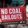 No coal bailouts sign