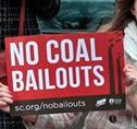 No coal bailouts sign