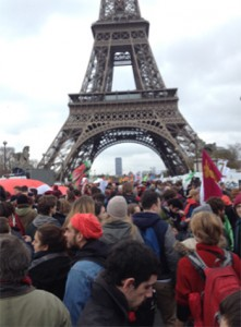 Redline March at Eiffel Tower