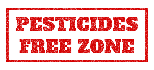 Pesticides-Free Zone Rubber Stamp